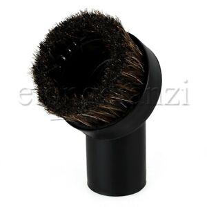 Black ABS Plastic Horse Hair Vacuum Cleaner Dusting Brush