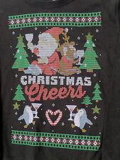 womens 2X ugly christmas Cheers sweater sweatshirt wine beer drinking 18W/20W