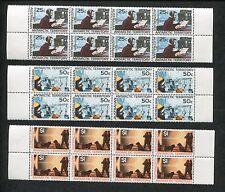 Set of 10, Panes of 8 Australia Stamps #L8-L18, Missing #L11 Scott Value $432