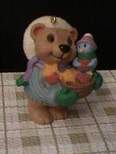 1999 Hallmark Ornament Sweet Friendship Bear  & Blue Bird