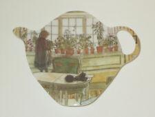Flower Window Tea Bag Holder Ashdene New Melamine Teapot Shape