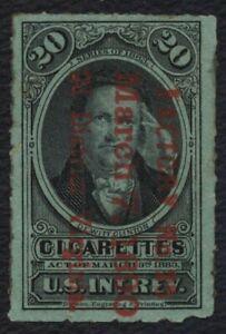 #TA18c 20 Cigarettes, Series 1883 Greenish Blue, Used [1] **ANY 5=FREE SHIPPING*