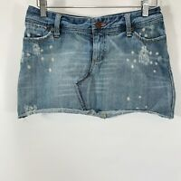 American Eagle Outfitters Skirt Size 4 Denim Mini Jean Distressed 100% Cotton