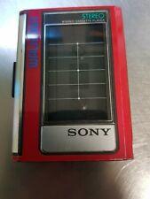 Sony Walkman WM-32 Vintage Cassette Player rot Kassetten MC 1986 Stereo