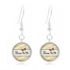 Rom 8 28 Bible glass Frea Earrings Art Photo Tibet silver Earring Jewelry #476