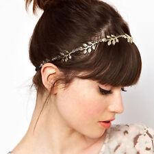 Women Luxury Headband Gold Leaves Party Hairband Wedding Accessaries Fashion#