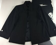 New Premise Studio Womans Black Open Front Long Sleeve Jacket Stretch Size 6