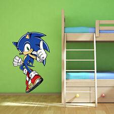 Sonic the Hedgehog Multi Colour Wall Art Sticker Children's Bedroom Decal Mural