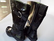 Women's Size 8 M RAINBOOTS Black Shiny Rubber High Quality COUGAR SPORT