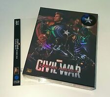 CAPTAIN AMERICA CIVIL WAR [2D + 3D] Blu-ray STEELBOOK [NOVAMEDIA] FULLSLIP A