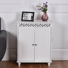 Bathroom Cabinet Wooden Hallway Bedroom Storage Cabinets White Cupboard Rack New