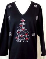 X-LARGE Top Hand Embellished Silver Christmas Tree With Red Bows & Snowflakes