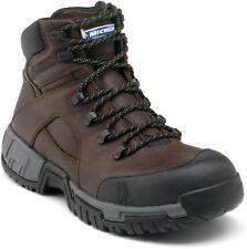 Michelin Work BOOTS Mens Steel Toe Waterproof Lace up Brown XHY662 11 W BRN