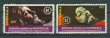 Guatemala Briefmarken 1977 Christusstuatuen Mi.Nr.1058+59