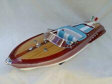 "Cedar Wood Riva Aquarama 34"" High Quality Model Boat L80 Handmade Xmas Gift"