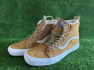 Vans Sk8-HI All Weather MTE Warm Lining Shoes 721454 Cumin/Brown Mens Sz 8.5 NEW