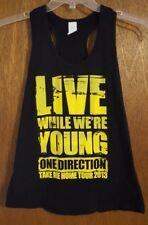 One Direction 1D Take me Home Tour 2013 Live While We're Young Size M tank top