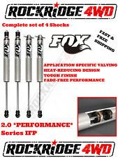"FOX IFP 2.0 PERFORMANCE Shocks w Stem Elim 87-95 Jeep Wrangler YJ 5""- 6"" of Lift"