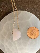 Delicate Raw Rose Quartz Gemstone Necklace