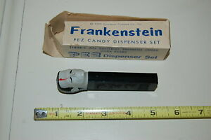 1965 PEZ DISPENSER FRANKENSTEIN W/ ORIGINAL BOX UNIVERSAL PICTURES NO FOOT AUST