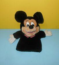 "Older 12"" Applause Classic Disney Mickey Stuffed Plush Hand Puppet"