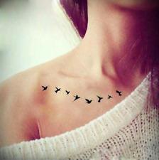 2pc Women Sexy Wrist Flash Small Birds Fly Waterproof Temporary Tattoos Sticker