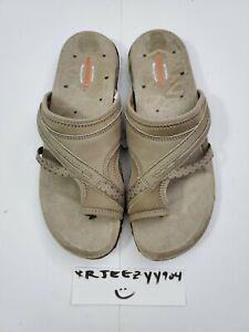 Women's 9 Taupe Merrell Terran Post II Sandals Shoe Slip On J02764