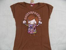 NOLITA POCKET tolles Shirt m. buntem Druck Mädchen braun Gr. 12 J NEU ST719