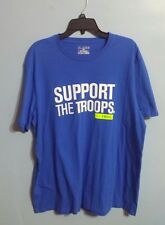 """Under Armour Men's UA """"Support The Troops"""" Blue Short Sleeve T-Shirt!! Size XL!"""