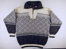 J446 NORWOOL Norway new wool outdoor ski folk sweater jumper size M excellent!