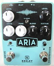 Used Keeley Aria Compressor Drive Guitar Effects Pedal!