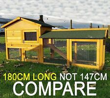 RABBIT HUTCH GUINEA PIG HUTCHES RUN RUNS LARGE 2 TIER DOUBLE DECKER NATURALCAGE