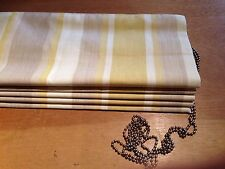 Laura Ashley Awning Stripe Camomile 3500691 Roman Blind MadeTo Measure All Cols