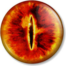 "Eye of Sauron 1"" 25mm Pin Button Badge Hobbit JRR Tolkien Lord Of The Rings Book"