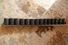 """***NEW*** Snap On 14 pc 1/2"""" Drive SAE 12-Point Flank Drive® Shallow Socket Set"""