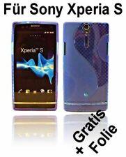 TPU Silikon Hülle Case Cover für Sony Xperia S LT26i /// Blau