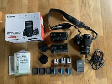 Canon Digital Slr EOS 350D Bundle Batteries Charger Grips boxed