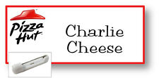 1 NAME BADGE FUNNY HALLOWEEN COSTUME PIZZA HUT CHARLIE CHEESE PIN FREE SHIPPING