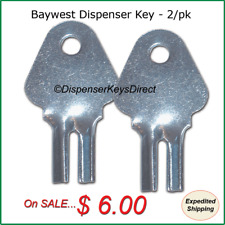 Baywest Dispenser Key for Paper Towel & Toilet Tissue Dispensers (2/pk.)