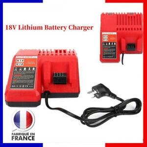 Chargeur de batterie au lithium 18V pour Milwaukee Li-ion Battery M18 EU Plug