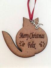 Personalizado Mascota Gato Navidad Adorno Árbol Decoración Ornamento Memorial