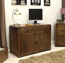 Baumhaus Shiro Walnut Hidden Home Office - with Internal Drawers and Cupboards