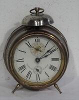Antiker gr. Glockenwecker mechanischer Junghans Wecker Uhr D.R.P. Tischuhr ~1900