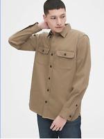 Gap Mens Khaki Twill Lightweight Shirt Jacket Size Large