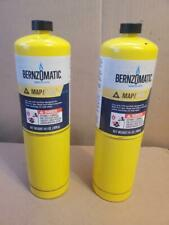 Lot Of 2x Bernzomatic Fuel Hand Torch Cylinder Map-Pro 14.1 oz Psi (
