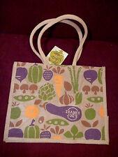NEW Trader Joe's Jute Burlap Bag Reusable Limited Edition Eco Friendly Tote NWT