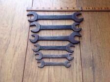 6 Vintage Velocidad británicos hicieron Whitworth llaves.