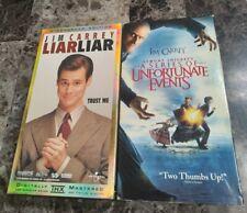 Jim Carrey VHS Lot: Lemony Sniket's A Series Of Unfortunate Events. Liar Lair