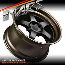 MARS MP-S1 4x 18 Inch Black Face deep Matt bronze dish Alloy Wheels Rims 5x114.3