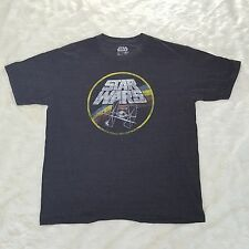 STAR WARS Tie Fighter X Wing Graphic Tshirt Mens XL Retro Vintage Distress Look
